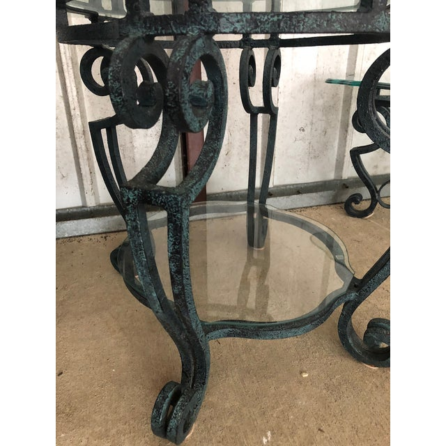 Ballard Designs Scrolled Iron Cocktail Table & Side Table For Sale - Image 10 of 13
