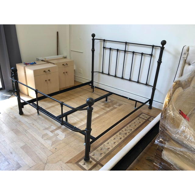 Pottery Barn Queen Size Mendocino Bed Frame Chairish