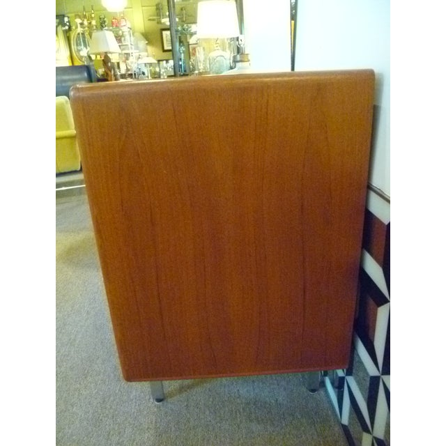 Teak and Wenge Wood Danish Modern Sideboard Buffet, DEnmark 1970s For Sale In Miami - Image 6 of 13
