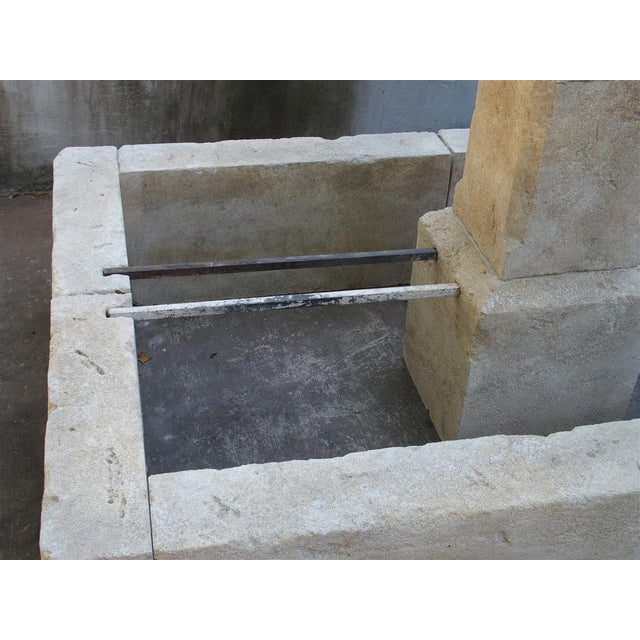 Rectangular 2 Spout Limestone Center Fountain From Provence For Sale - Image 9 of 10