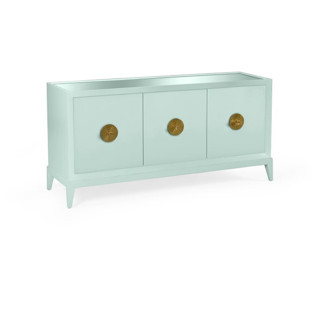 Transitional Casa Cosima Hayes Sideboard, Palladian Blue For Sale - Image 3 of 3