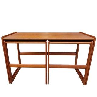 Mid-Century Nesting Tables by Arne Hovmand Olsen for Mogens Kold - Set of 3 For Sale