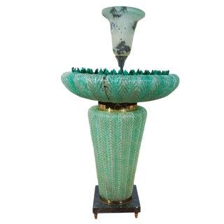 Rare 1950's Murano Glass Fountain For Sale