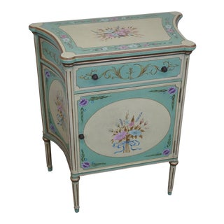 Maitland Smith Hand Painted French Louis XVI Style Commode Cabinet Console
