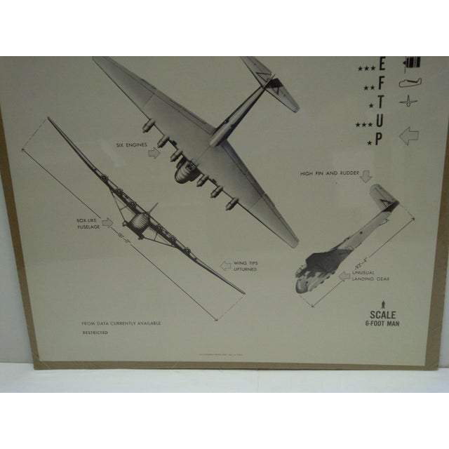 Circa 1944 WWIIAircraft Recognition Poster Messerschmitt Me 323 German For Sale - Image 4 of 4