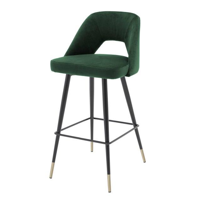 Green Velvet Bar Stool | Eichholtz Avorio For Sale - Image 9 of 9