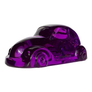 Shlomi Haziza Purple Lucite Car Sculpture For Sale