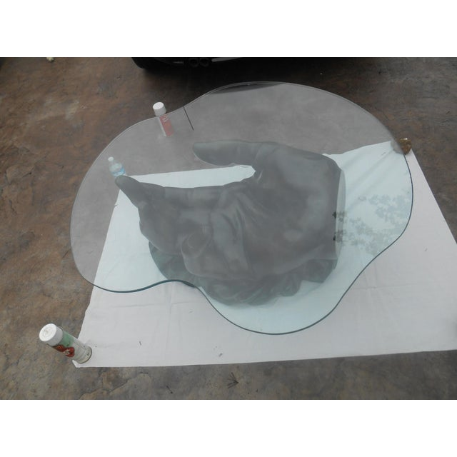 """Stunning Leonardo Rossi Bronze XL """"Hand"""" Sculpture Coffee Table For Sale - Image 11 of 13"""