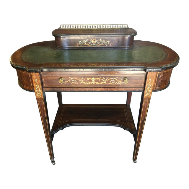 Inlaid Edwardian Desk For Sale