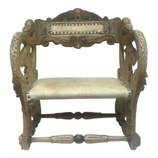 Antique Carved Swan and Griffin Carousel Seat For Sale