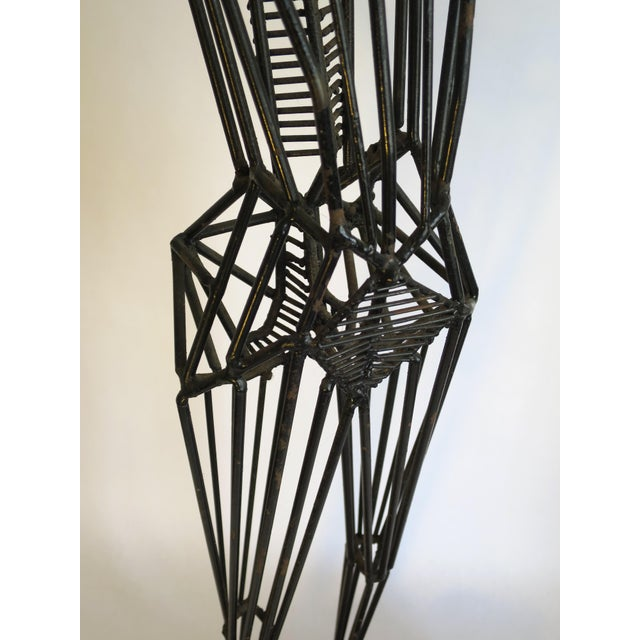 Mid-Century Abstract Figurative Metal Sculpture - Image 7 of 9