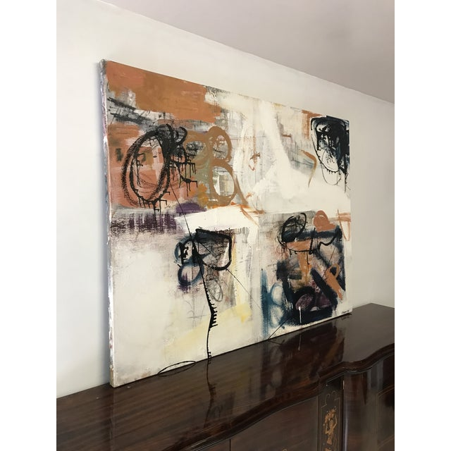 Fine Abstract Oil Painting on Canvas by Franchy For Sale In Miami - Image 6 of 13