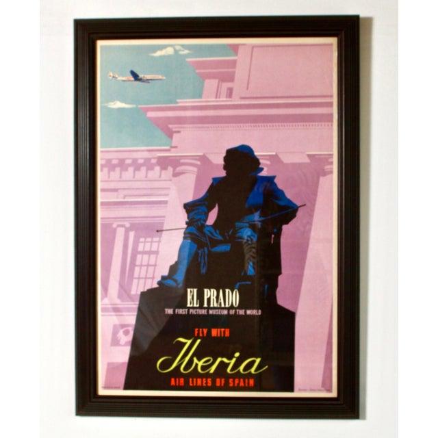 Modern 1950s Vintage Iberia Airlines Framed Travel Poster For Sale - Image 3 of 8