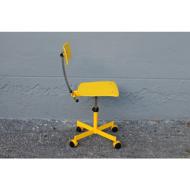 Mid-Century Modern Mid Century Modern Beautiful Yellow Desk Chair For Sale - Image 3 of 11