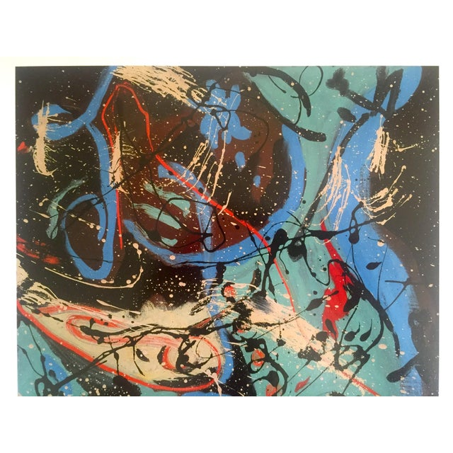Jackson Pollock PRINT Vintage 2006 Abstract Art Composition With Pouring II