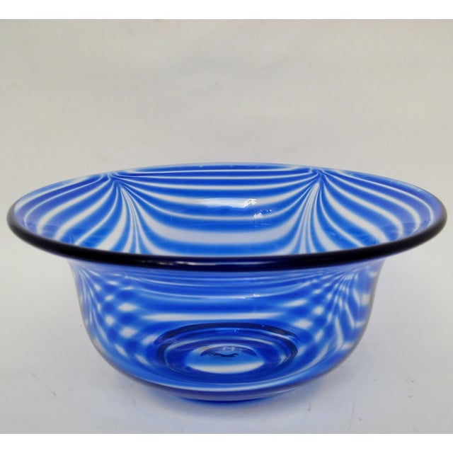 Pulled Feather Glass Console Bowl - Image 3 of 6