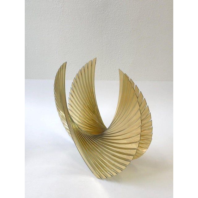 Glass Amber Glass Sculpture by Tom Marosz For Sale - Image 7 of 11