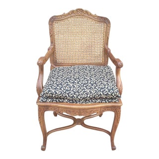 French Country Bergere Chair For Sale