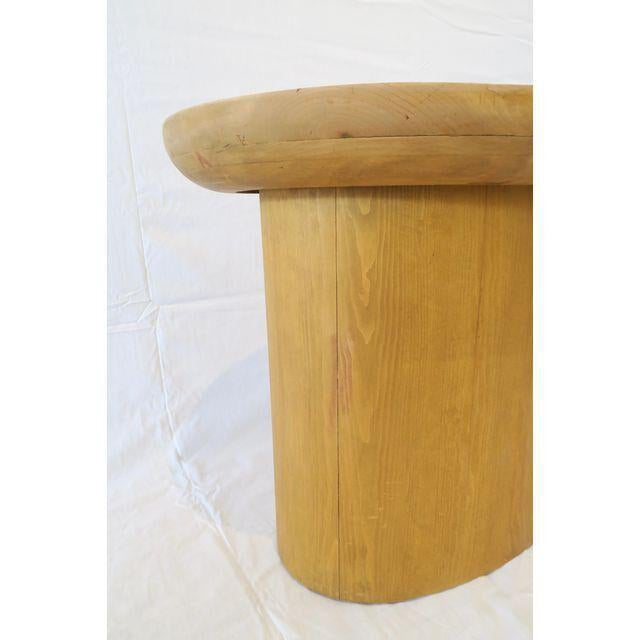 Modern Waxed Pine Oval Side Table by Martin and Brockett For Sale - Image 4 of 4