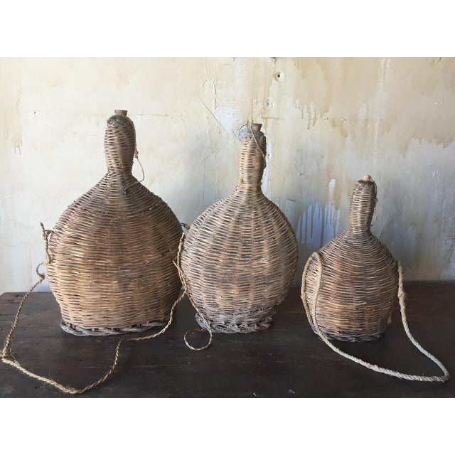 3 Italian Antique Portable Wine Flasks For Sale - Image 9 of 10