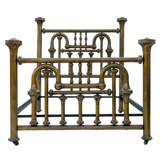 19th Century Brass Tuba Bed Frame For Sale