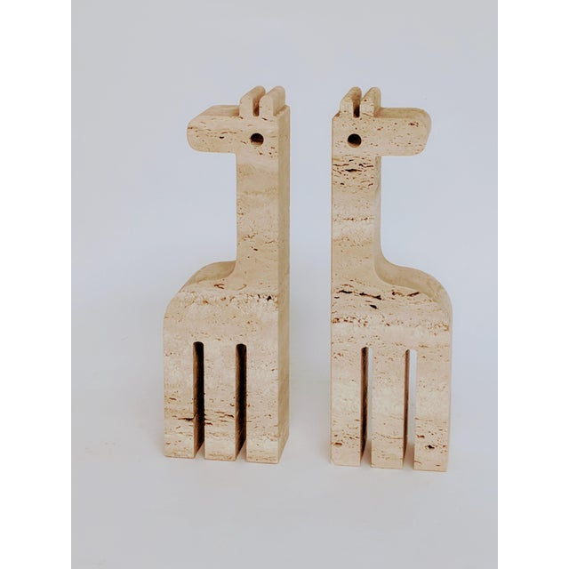 Fratelli Mannelli Travertine Giraffe Bookends - A Pair - Image 7 of 7