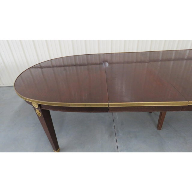 Regency Style Dining Room Table For Sale - Image 4 of 8
