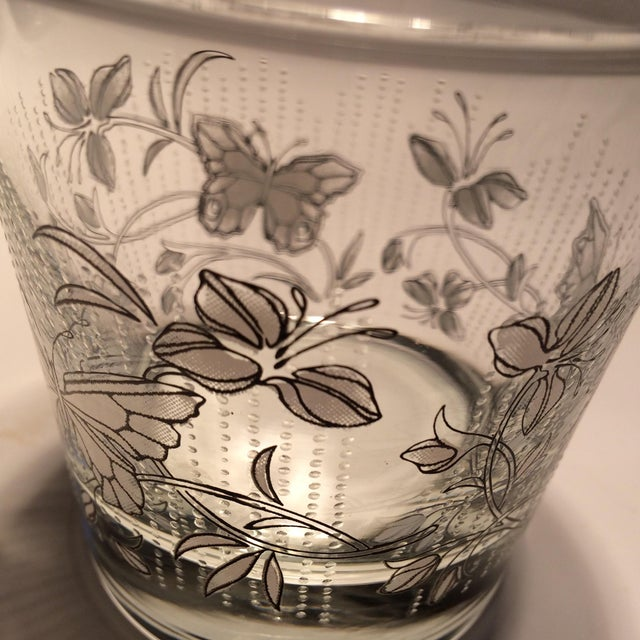 Vintage Butterfly Design Low Ball Glasses - Set of 6 - Image 9 of 11