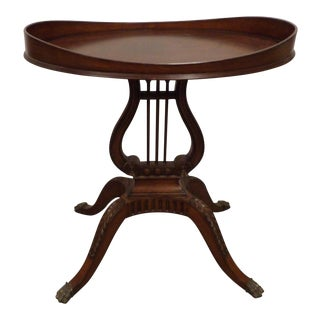 20th Century Traditional Mersman Furniture Table Harp Base Gueridon End Table For Sale