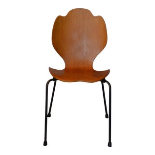 1960s Experimental Arne Jacobsen Bentwood Side Chair For Sale