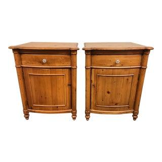 Vintage Style Pine Nightstands - a Pair