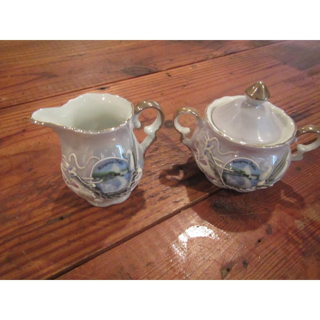 This Throwback Vintage Honeymoon Niagra Falls Cream and Sugar Set will be a fun set to add to your dining decor. It takes...