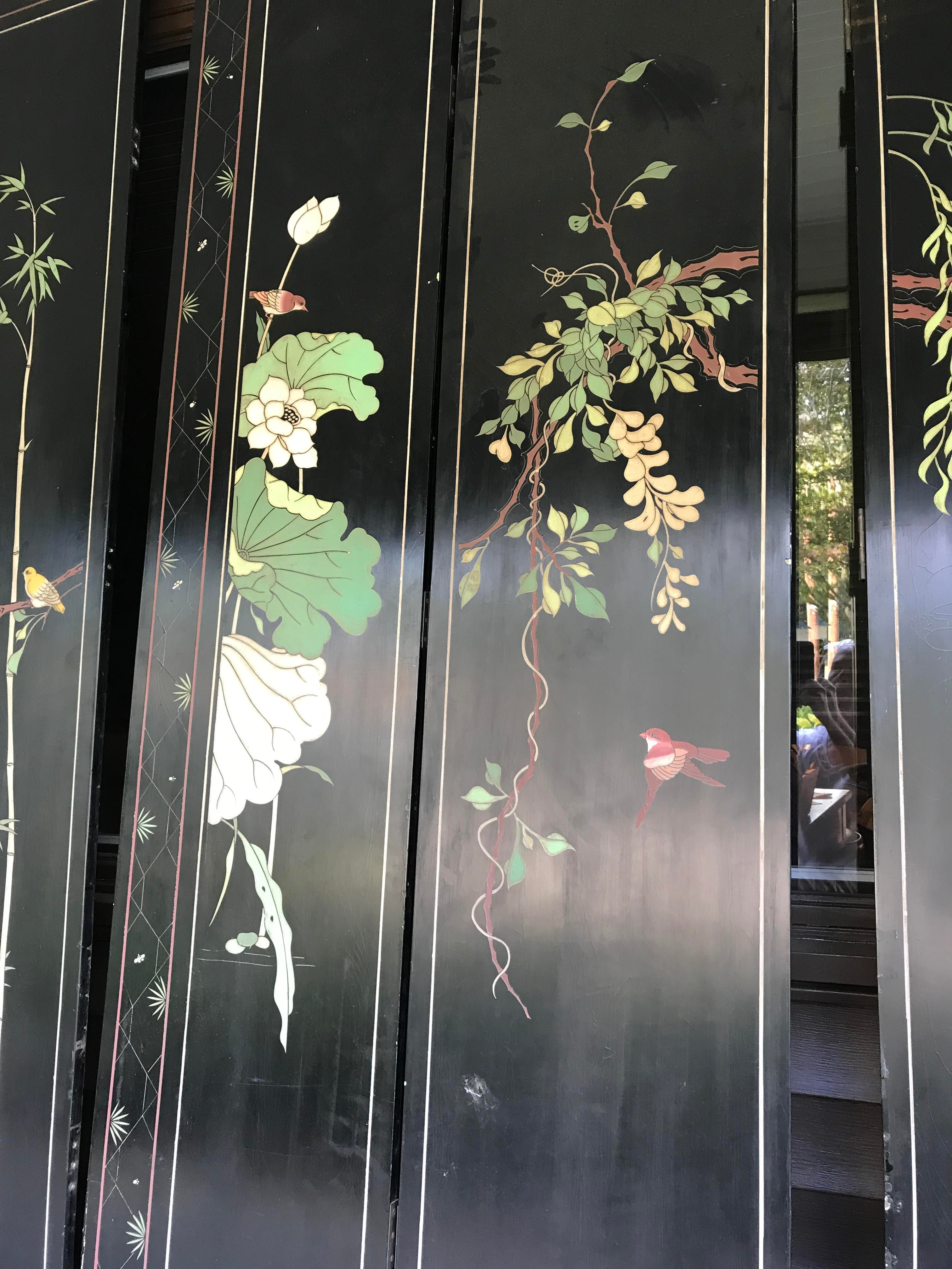 Vintage Chinese Room Divider Screen 8 Panels Chairish