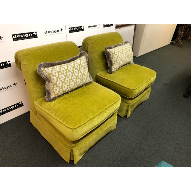 Traditional Manuel Canovas Slipper Chairs, a Pair For Sale - Image 3 of 11