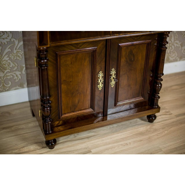 19th Century Basin Cabinet Veneer with Walnut For Sale - Image 4 of 13