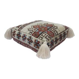 Turkish Wool Vintage Pouf For Sale
