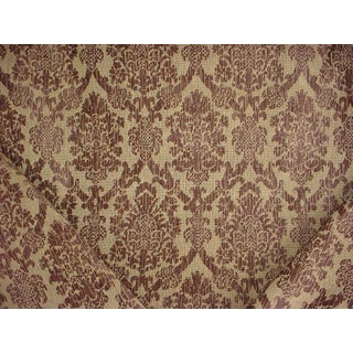 Kravet Lee Jofa Verony Floral Damask Velvet Upholstery Fabric - 6.25 Yards For Sale