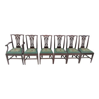 Potthast Chippendale Mahogany Dining Chairs - Set of 6 For Sale