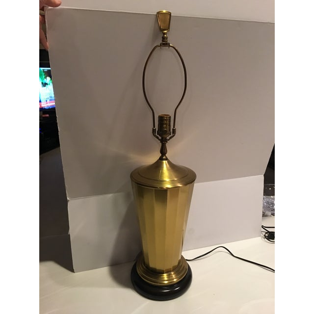 1980s Vintage Wildwood Brass Table Lamp For Sale - Image 5 of 8