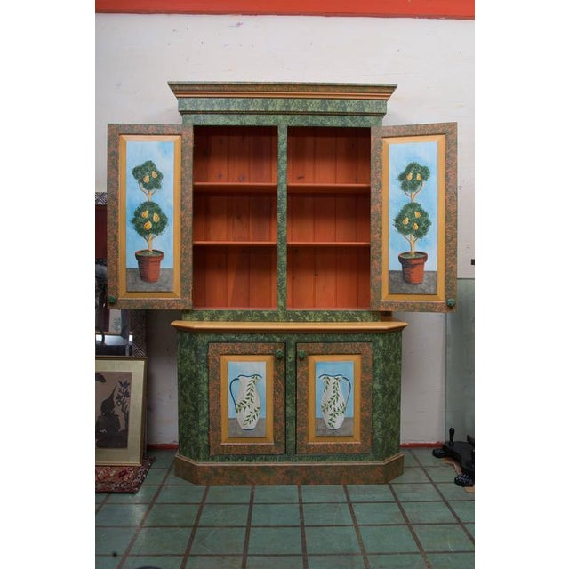 Whimsical Hand-Painted Solarium or Garden Room Cabinet - Image 2 of 10