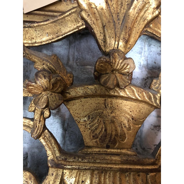 18th Century Carved Gilt Wood Louis XIV Mirror For Sale - Image 4 of 8
