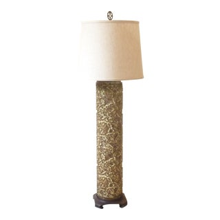 Antique Print Roller Lamp With Shade For Sale