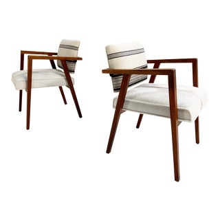 Franco Albini for Knoll Model 48 Chairs in Calfskin and Isabel Marant Silk Wool For Sale