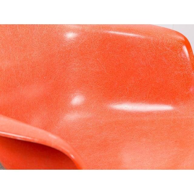 Birch Eames Orange Armchair on Rocker Base For Sale - Image 7 of 11
