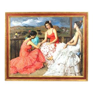 Large Francesco Rodriguez San Clemente Oil Painting For Sale