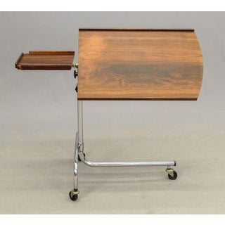 Vintage Danish Adjustable Rosewood & Chrome Reading Table Preview