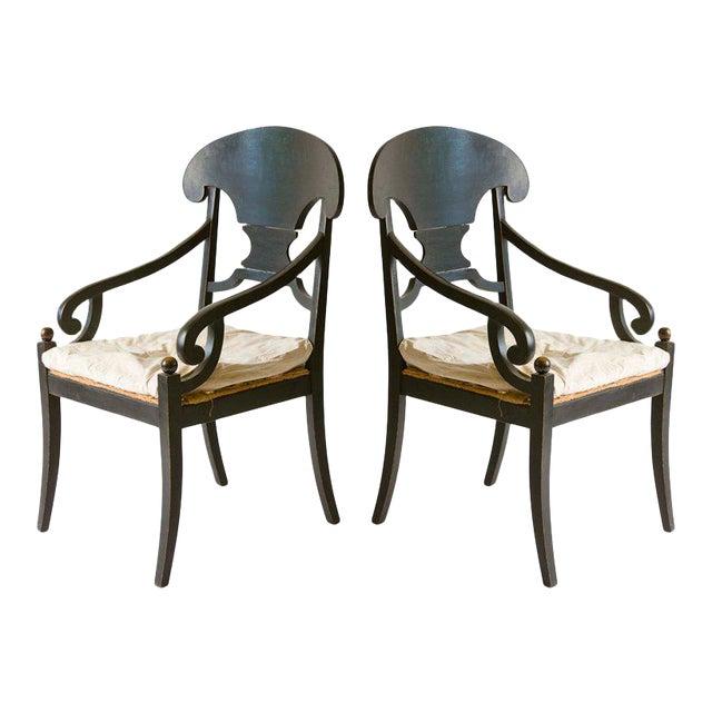 Pair of Swedish Armchairs - Image 1 of 3