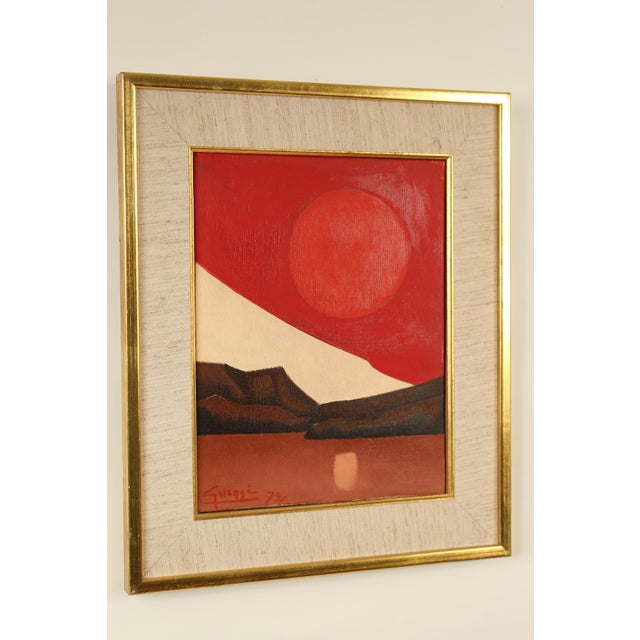 Canvas Abstract Painting by Antonio Guanse For Sale - Image 7 of 13