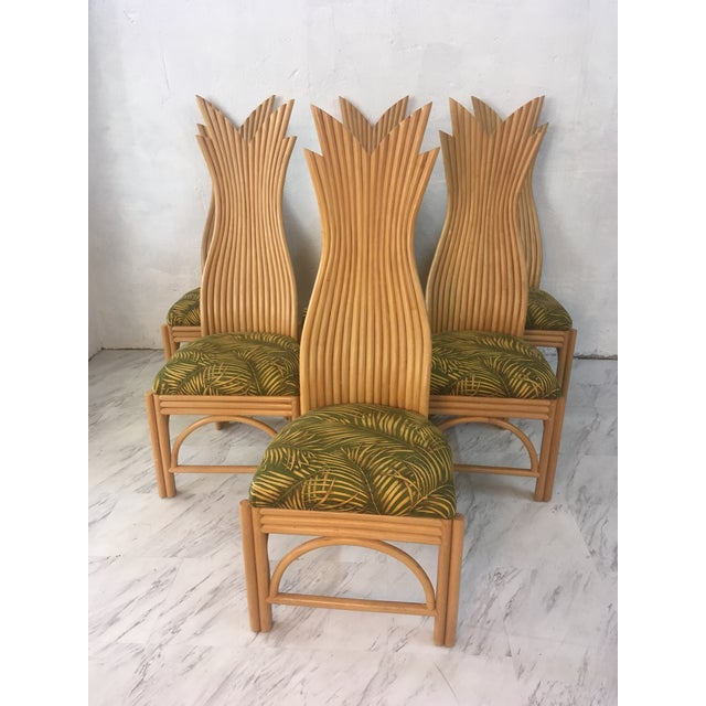 2000 - 2009 Rattan Dining Chairs, Set of Six For Sale - Image 5 of 10