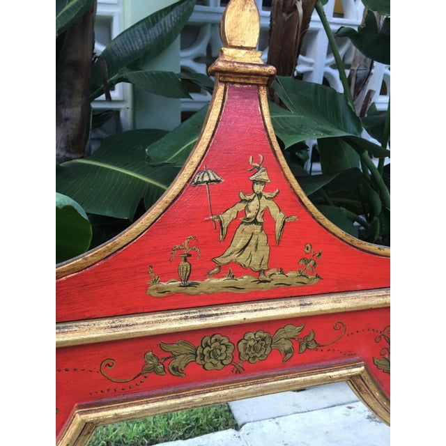 Asian Vintage Florentine Pagoda Mirror For Sale - Image 3 of 6